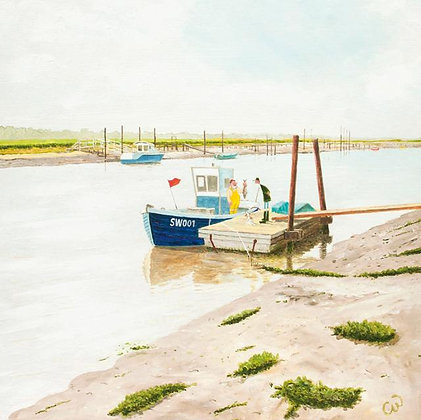 Southwold - Walberswick - Suffolk Coast - Fine Art Greeting Card - Green Pebble