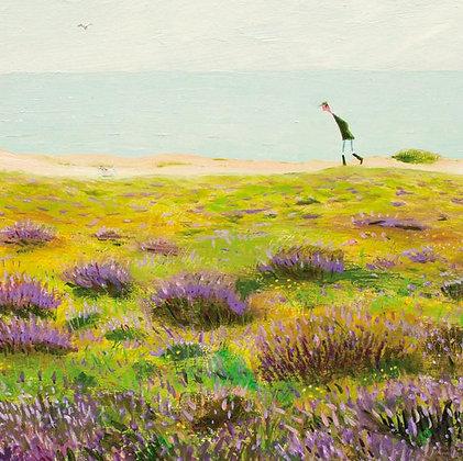 Coastal Heath - East Anglia Coast - Fine Art Greetings Card by Chris Williamson