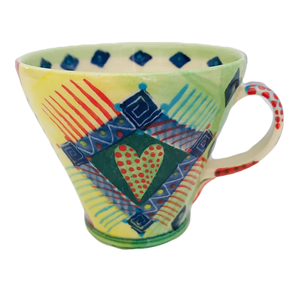 NEW Pru Green Mug - Large Bright and Colourful Design