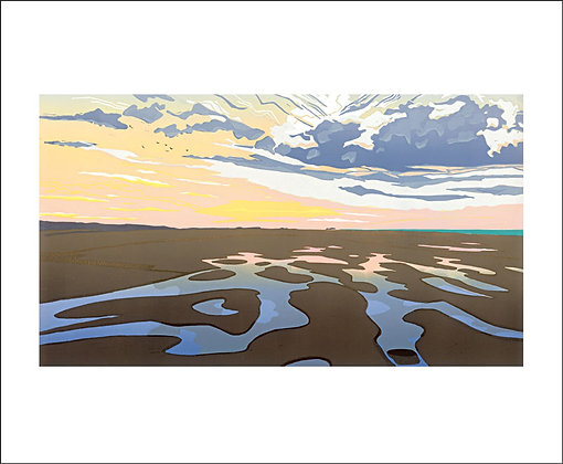 Holkham Tidepools - by Colin Moore - Art Angels Card