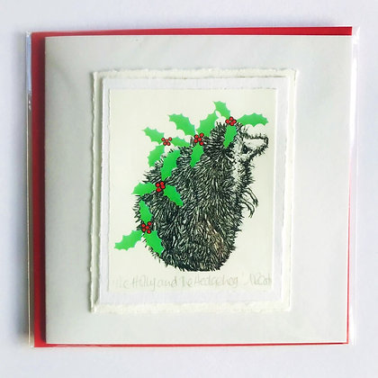 Alison Read Christmas Cards - The Holly and The Hedgehog