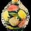 Thumbnail: Pru Green - Round Lamp Base - Tulip Pattern