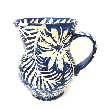 Pru Green - Blue and White Pottery Mug