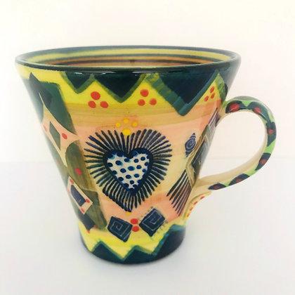 Pru Green Ceramics - Large Bright Colourful Pattern Mug