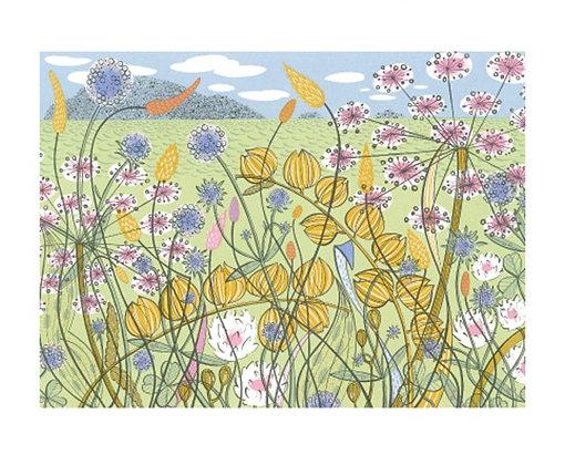 Angie Lewin - Machair - Fine Art Single Card