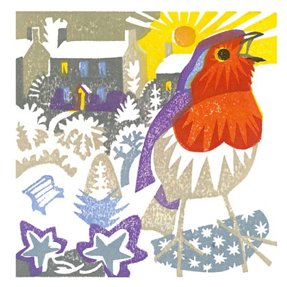 Winter Sunrise - Robin - Printmakers Cards