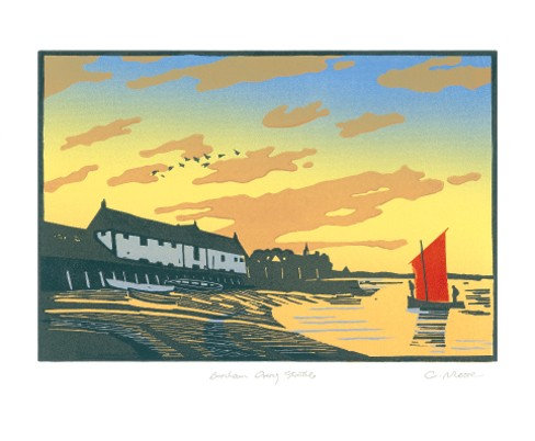 Burnham Overy Staithe Norfolk Coast by Colin Moore - Art Angels Single Card