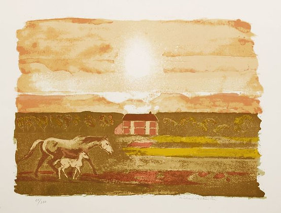 Michael Rothenstein- Mare and Foal - Curwen Archive