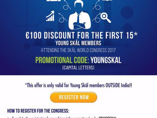 Skål World Congress Discount for Young Skål