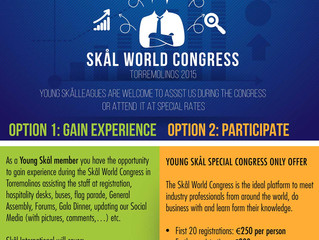 Special Opportunities for Young Skål during the Skål World Congress 2015