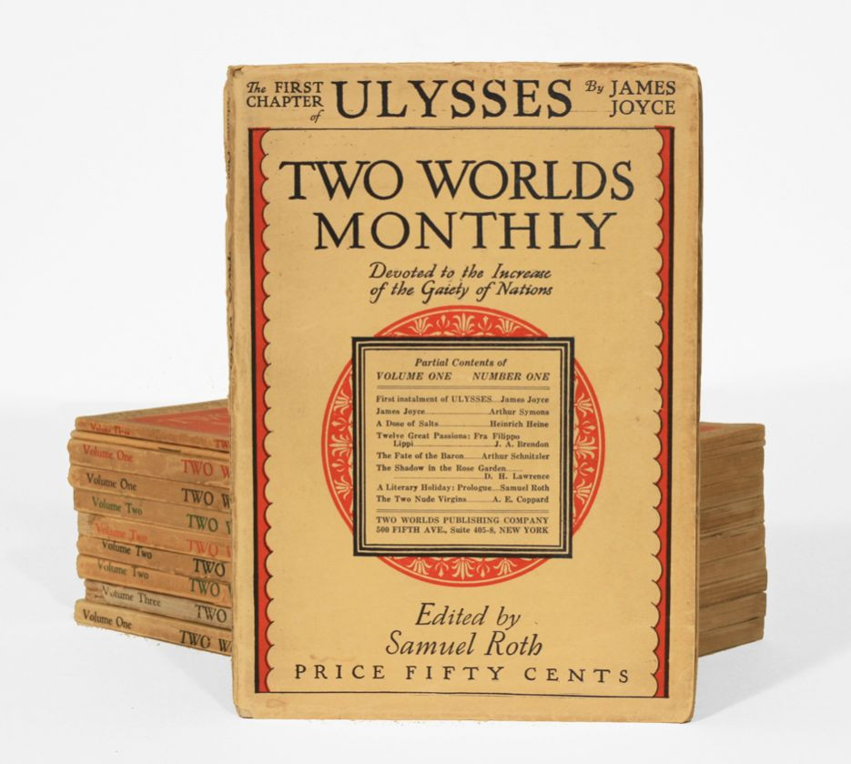 """ULYSSES"" EDITED COPIES SOLD FOR FIFTY CENTS"