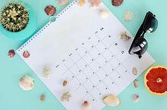 white-page-calendar-summer-concept-flat-