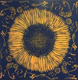 Sunflower Stencil
