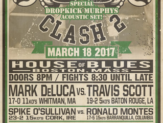 MURPHYS BOXING TO HOST PUBLIC WEIGH IN FOR ST. PATRICK'S CLASH II, DURING THE DROPKICK MURPHYS SOUND