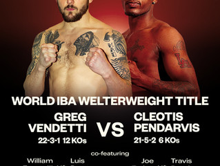 Murphys Boxing Returns to Encore Boston Harbor April 9th! Greg Vendetti to fight for IBA Welterweigh