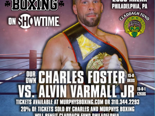 NABA LIGHT HEAVYWEIGHT CHAMP CHARLES FOSTER (15-0) NOW FIGHTING ON MAY 11th ON SHOWTIME