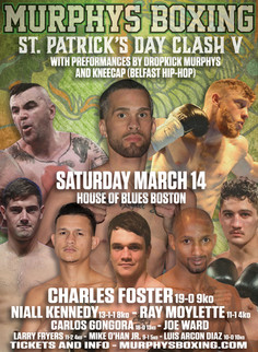 5th Annual St. Patrick's Day Clash Line Up Announced! Charles Foster to defend NABA Title! Ray M