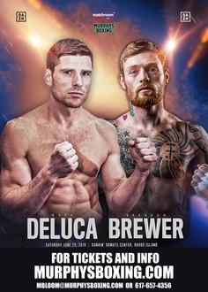Mark DeLuca vs. Brandon Brewer added to Andrade vs. Sulecki in Providence, RI. on Sat. June 29! Tick
