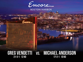 Murphys Boxing comes to Encore Boston Harbor on July 12! Greg Vendetti to fight for IBA Junior Middl