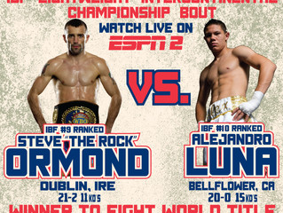 """This Friday our own Steve """"The Rock"""" Ormond defends his IBF Intercontinental title on nati"""