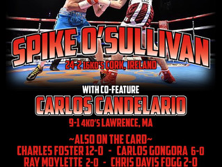 MURPHYS BOXING ANNOUNCES FULL FIGHT CARD AT PLAINRIDGE PARK CASINO TAKING PLACE ON SATURDAY, MAY 13T