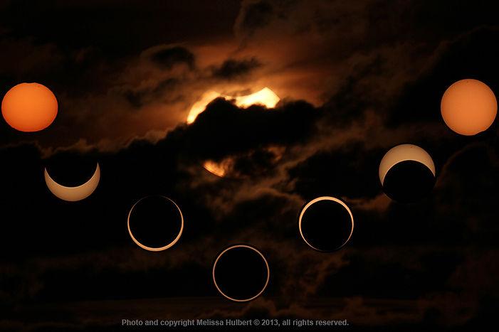 Annular Eclipse - background phase mix -