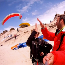 PARAPENT TANDEM IN THE DUNES OF OFIR