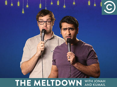 The Meltdown with Jonah and Kumail is a stand-up comedy television series that aired on Comedy Central in the United States. It was hosted by stand up comedians Jonah Ray and Kumail Nanjiani. Executive Produced by academy award nominated Emily V Gordon & Kumail Nanjiani, Mike Rosenstein, Jonah Ray,  Ben Stiller, Stuart Cornfeld, and Debbie Liebling. It was filmed in the Nerdist Showroom at Meltdown Comics in Los Angeles. It originated as a weekly live show in 2010, and then on July 24, 2014, an edited version began airing on Comedy Central for 3 seasons.