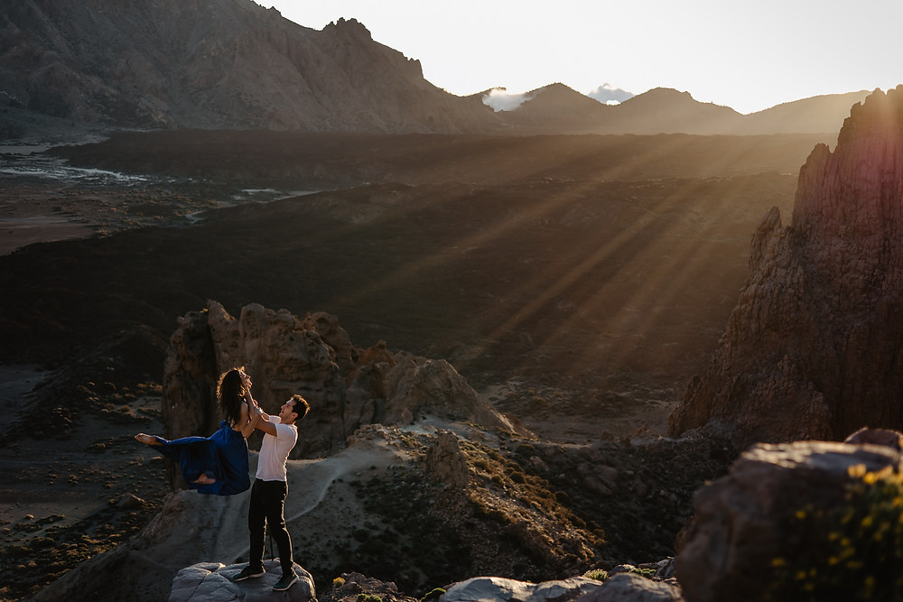 marysia i julian akrobaci sesja na wulkanie teneryfa
