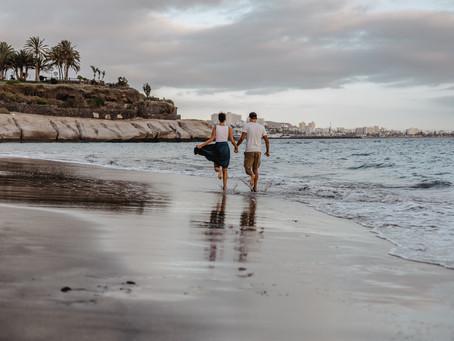 Couple's photoshoot in Tenerife