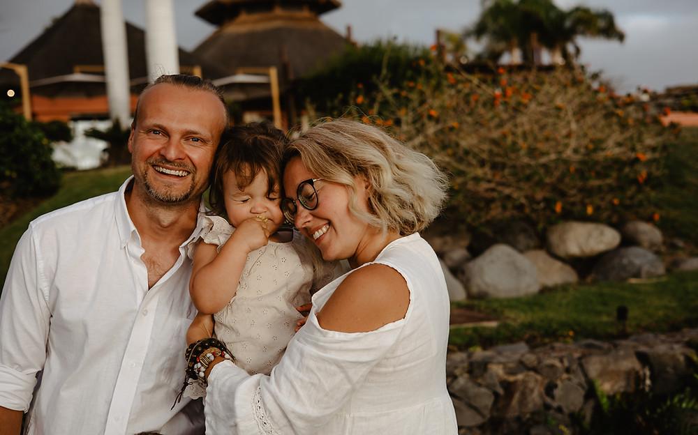 sesja rodzinna plaża teneryfa ogrody