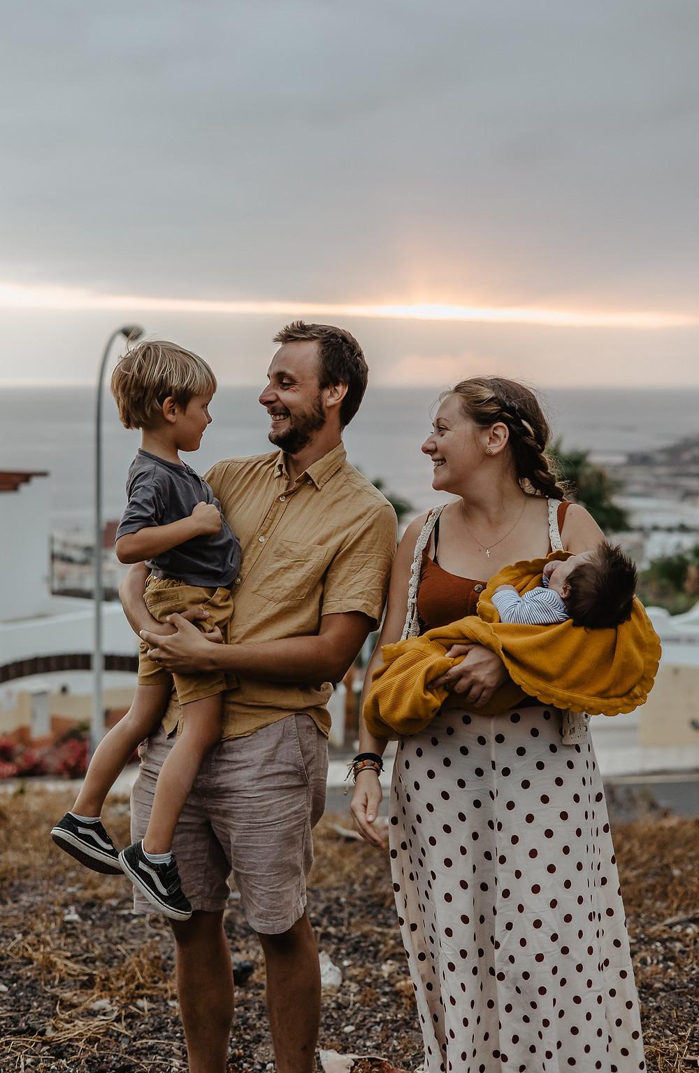 sesja rodzinna na wakacjach teneryfa
