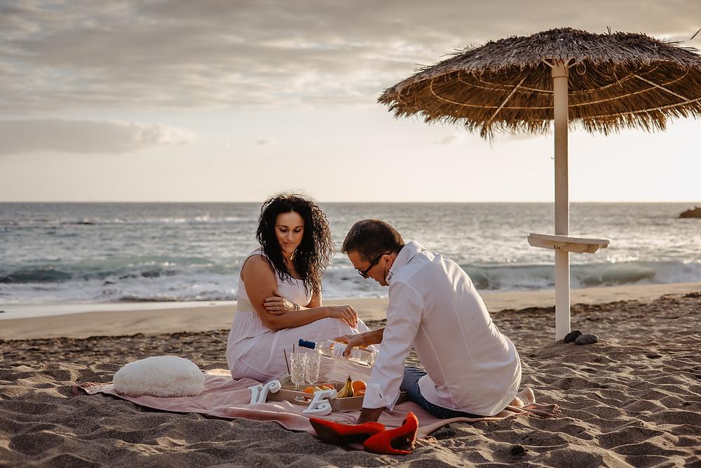 piknik nad morzem na sesje fotograficzna
