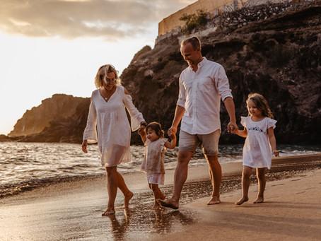 Sesja rodzinna na plaży Abama Teneryfa