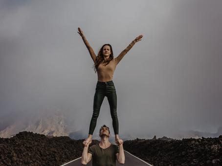 Sesja zdjęciowa pary na wulkanie El Teide Teneryfa