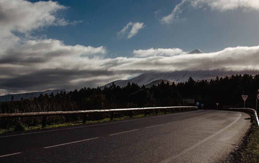 Wulkan Teide Teneryfa śnieg