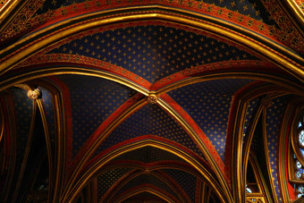 Sainte chapelle Paris, three