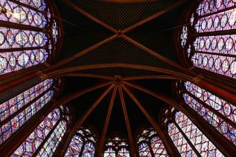 Sainte chapelle Paris, two