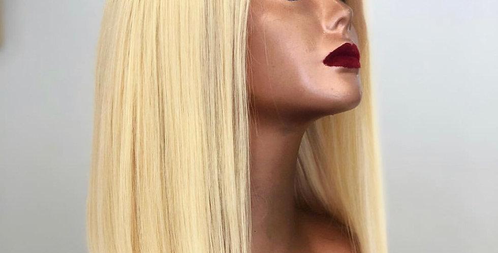 Blonde blunt Bob Cut