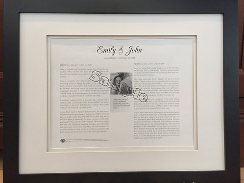 Couple Astrology Report - Framed