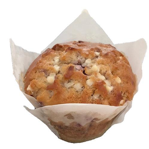 Raspberry & White Chocolate Premium Muffins - pack of 3