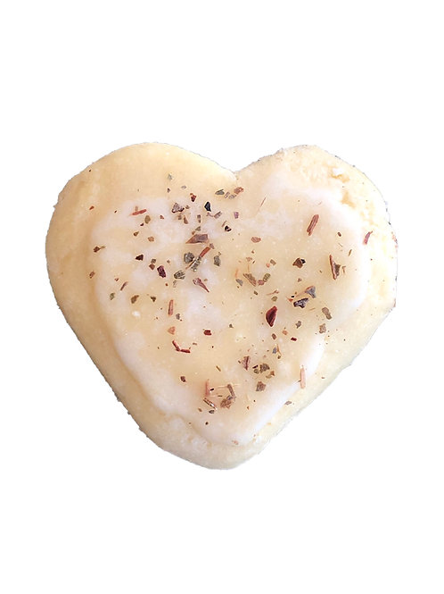 Lemon Myrtle Heart Shortbread Classic Cookies - pack of 6