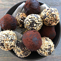The Cookie Barrel Keto Brownie Bites, low carb, gluten free, no added sugar, made from scratched and hand rolled here in Perth Western Australia