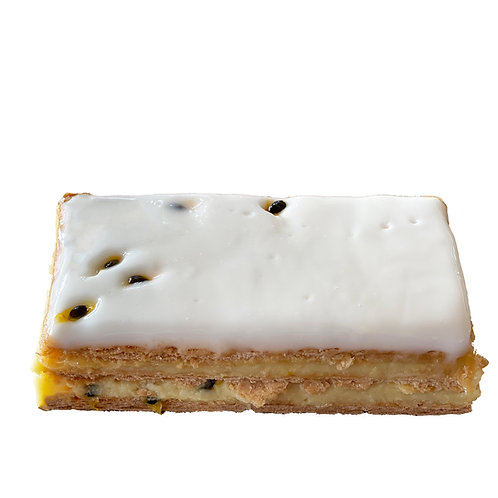 Passionfruit Vanilla Slices - pack of 6
