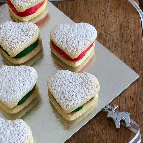 Shortbread Love Hearts - Mixed Pack of 12