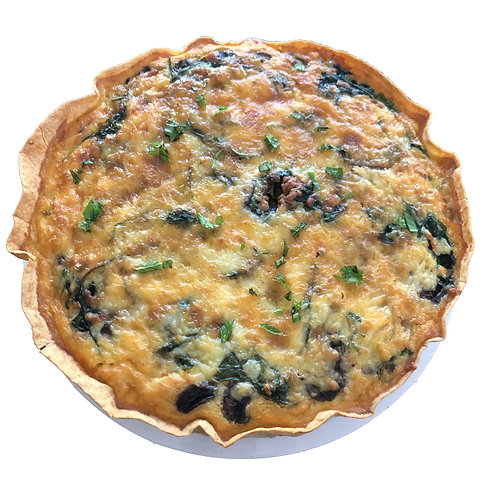 Caramelised Onion Mushroom & Spinach Tart Large Savouries