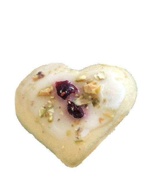 Pistachio Cranberry Shortbread Classic Cookies - pack of 6