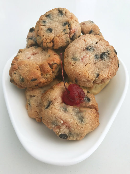 Chewy Choc Cherry Cookie Dough