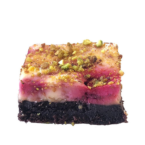 Raspberry & Pistachio Keto Slice - pack of 12