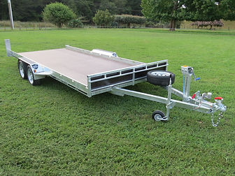Custom flat bed trailer
